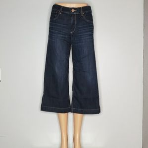Express Wide Leg Cropped Jeans (Gaucho)